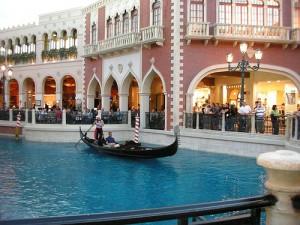 La gondola del Casino Venetian